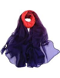 Yvelands soldes Femme L hiver Couleur mixte Mince et léger Gaze Écharpe  foulard 29bec5248f9
