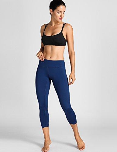 CRZ YOGA Damen Yoga Sport BH - X-Rücken,bügellos,abnehmbare Polsterung Schwarz