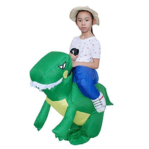 loween Lustige Fantasie Blow Up Kostüm Aufblasbare Cosplay Outfit GrünDinosaur (Grün Blow Up Anzug)