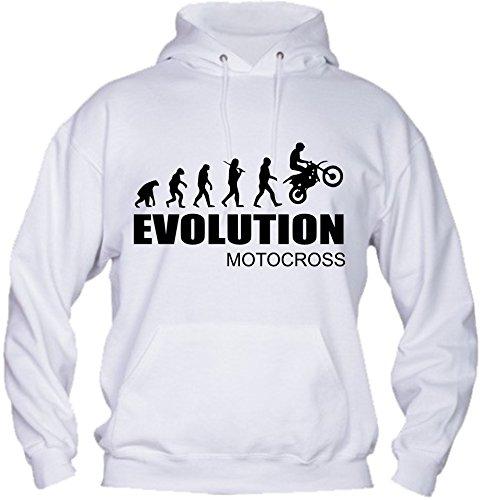 Social Crazy Felpa Uomo con Cappuccio Basic Top qualità Top vestibilità - Evolution Motocross Divertente Humor Made in Italy (L, Nera)