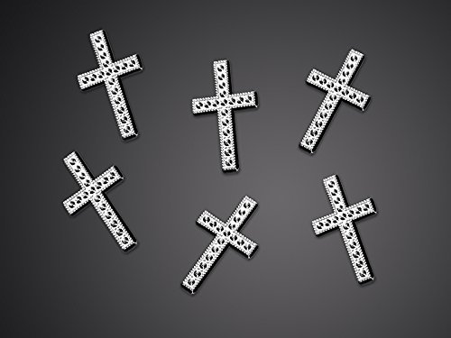 25 Kreuze Tischdekoration Streu Deko für Kommunion , Konfirmation , Taufe