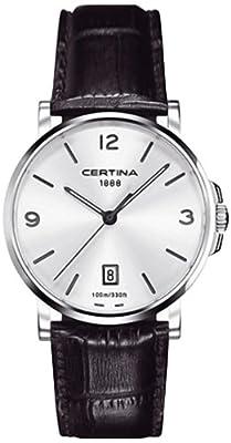 Certina C017.410.16.037.00 - Reloj analógico de cuarzo para hombre con correa de piel, color negro de Certina
