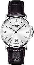 Comprar Certina C017.410.16.037.00 - Reloj analógico de cuarzo para hombre con correa de piel, color negro