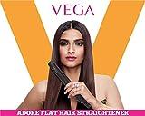 Vega Adore Flat Hair Straightener- Color may Vary