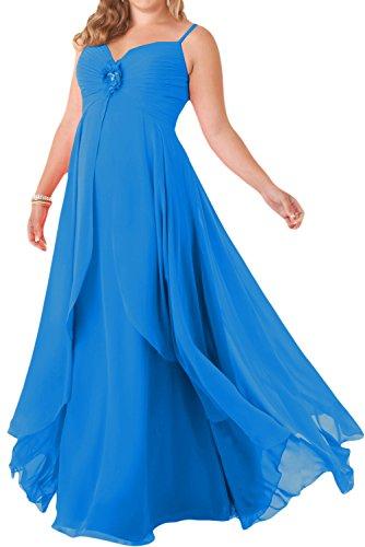 Toscana sposa incantesimo benda due-Traeger poposh Chiffon stanotte vestimento per sposa giovane a lungo un'ampia Party ball vestimento Blu 8