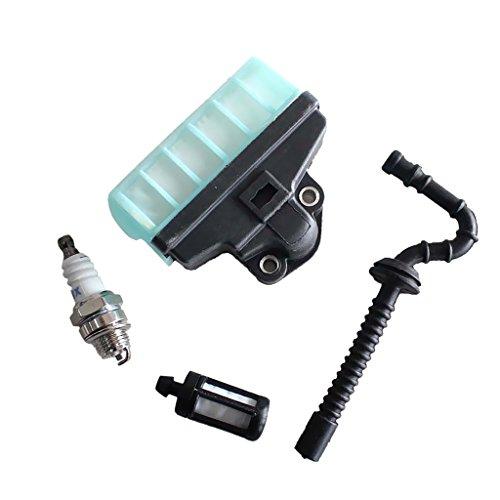 MagiDeal Luftfilter, Ölfilter, Schlauchrohr, Zündkerze für stihl ms210 ms230 ms250