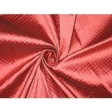 gesponnen Seide Brokat Stoff rosa rot 111,8cm by the Yard
