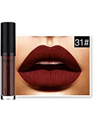 Landons Lápiz labial líquido mate impermeable labios brillo labial de larga duración
