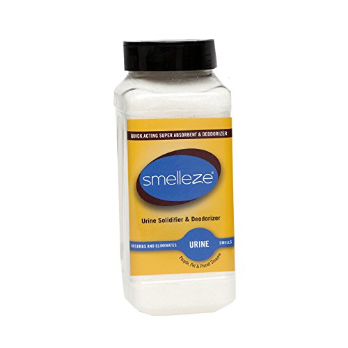SMELLEZE Urin Absorber , Solidifier & Deodorizer : 2 lb. Granulat für tragbare Urinale & Wärmflaschen