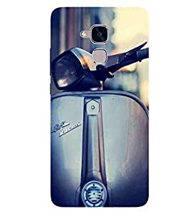 For Huawei Honor 5c :: Huawei Honor 7 Lite :: Huawei Honor 5c GT3 beautiful scooter, scooter, vintage scooter Designer Printed High Quality Smooth Matte Protective Mobile Case Back Pouch Cover by APEX
