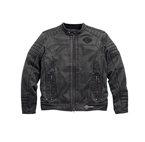 Davidson Herren-jacken Harley (Harley-Davidson Decklyn Casual Jacket 97587-17VM Herren Outerwear, Black, XXL)