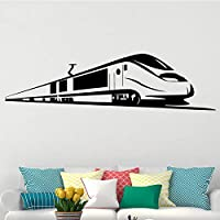 Bullet Train Wall Stickers Home Decor Removable Living Room Backgurand Home Decorationself Adhesive Wallpaper Accessories 43x159cm