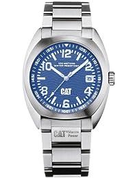 Caterpillar CA0740 - Reloj de caballero de cuarzo, correa de acero inoxidable color plata