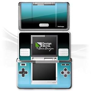 DeinDesign Skin kompatibel mit Nintendo DS Aufkleber Sticker Folie Blue Blau Black