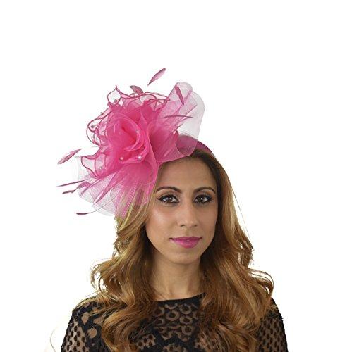 Superbe feevah Ascot Derby Bibi Chapeau–avec bandeau–Disponible en 30couleurs Violet - Violet