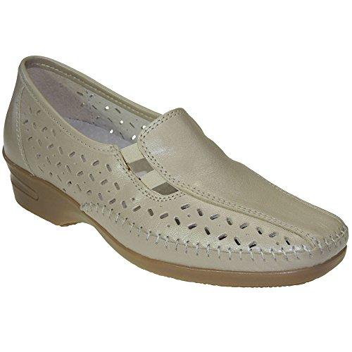 S@KUT - Zapato Comodón En Piel Y Calado - Modelo 356, color...