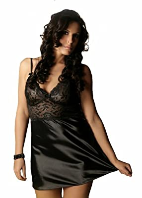 Nine X - Sexy Satin / Lace Babydoll 10 - 24, S - 6XL Lingerie, 6 Colours