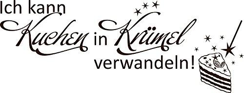 GRAZDesign 620515_50_080 Wandtattoo für Küche   Wand-Spruch über Kuchen   Küchen-Tattoos für Deine Küchen-Wände und Schränke   Für Esszimmer (130x50cm//080 braun)