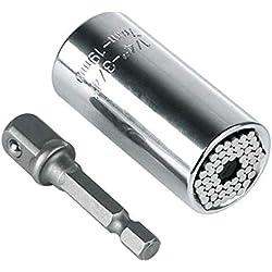 Universal-Steckschlüsselsatz,Universalschlüssel Universal Nuss Multifunktions-Universal-Schlüsselsockel Adapter Handwerkzeuge Reparatur Werkzeuge 7-19mm