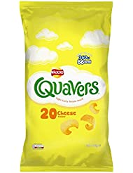 Walkers Quavers Cheese Snacks, 16 g (Pack of 20)