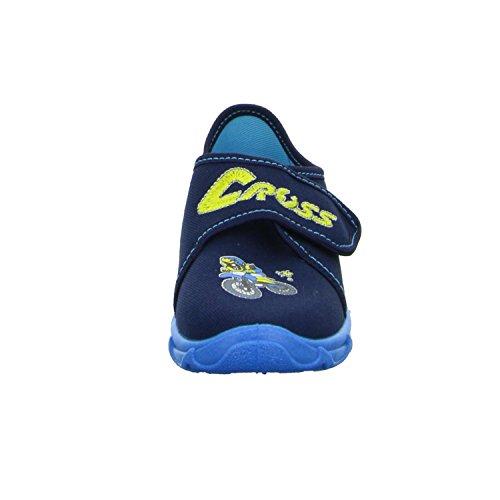 Sneakers ROBERT175 Jungen Hausschuh Kaltfutter Blau (Blau)