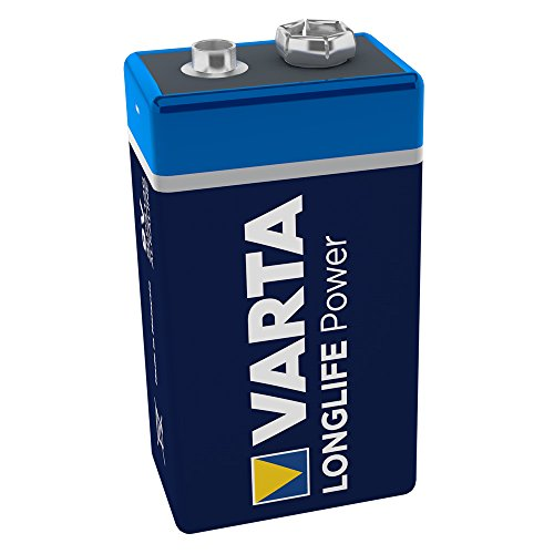 Varta 4922121411 Longlife Power Batterie (9V Block, Alkaline, 6LR61, 1er Pack) (Design/Produktname...