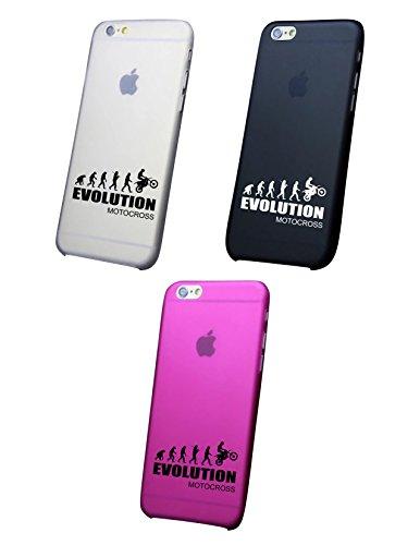 Cover IPHONE X-8-8PLUS 6 - 6 PLUS - 6S - 6S plus - 7 - 7 plus - EVOLUTION MOTOCROSS Trasparente VARI COLORI UltraSottili AntiGraffio Antiurto Case Custodia Bianco
