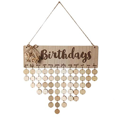 Justdolife Holz Geburtstag Kalender Kreative Familie Geburtstag Erinnerung Board