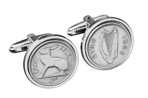 Regalo di compleanno 80th 1934 Irish Coin Gemelli - Genuine 1934 Irlanda Sixpence Gemelli