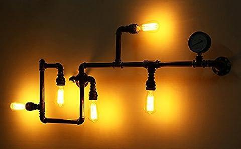 VanMe Tuyau D'Eau Vintage Wall Lights Décoration Appliques Entrepôt Industriel Loft Luminaires Ampoules Edison Eclairage Mural