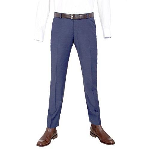 Benvenuto Purple - Slim Fit - Herren Baukasten Hose für Jungen Trend-Anzug mit sehr schlankem Schnitt in verschiedenen Farben, Tozzi (20657, Modell: 61284), Größe:98, Farbe:Mittelblau (954)