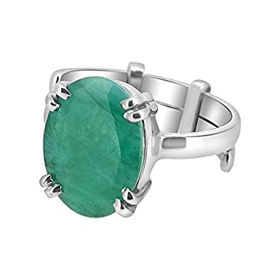 Buy Silver Ring Emerald Panna stone 92 5 Sterling Silver