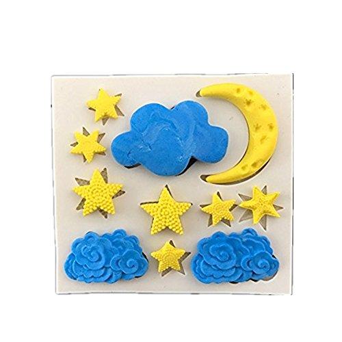 Drawihi Silikon Mond und Sterne Schokoladenform Kreative Kuchenform Biskuit schimmel Geleeform Handgemachte Seifenform DIY backwerkzeug