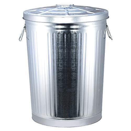 Metallbehälter Aus Verzinktem Stahl - Ideal Für Den Außenbereich/Tierfutter/Lebensmittel/Lagerung/Mehlsperrdeckel Mülleimer 7L