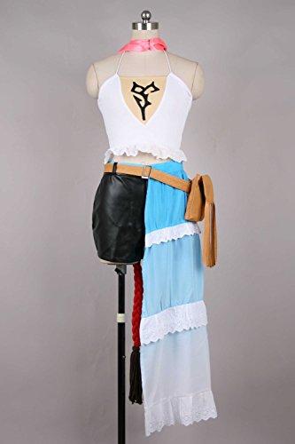 Vivian Halloween Final Fantasy X-2 Yuna Cosplay Kostüm(kann angepasst werden),Größe XL:(170-175 (Yuna X2 Fantasy Kostüm Final)