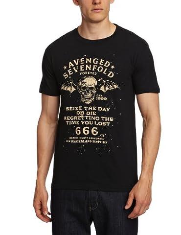 Avenged Sevenfold Herren T-Shirts - Seize The Day - Schwarz - Black - Medium