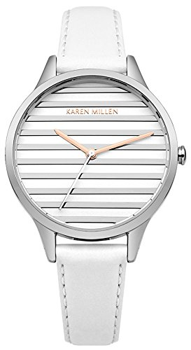 Karen Millen Women's Analogue Quartz Watch with Leather Strap KM161W