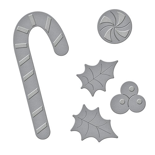 Unbekannt Spellbinders d-Lites Peppermint Stick sterben, Metall, braun - Peppermint Candy Crafts