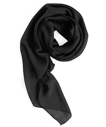 Homrain Damen Chiffon Stola Schal für Hochzeitskleider Abendkleider Alltagskleidung Black M