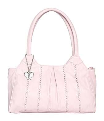 Butterflies Women's Handbag (Baby Pink) (BNS 0630BPK)