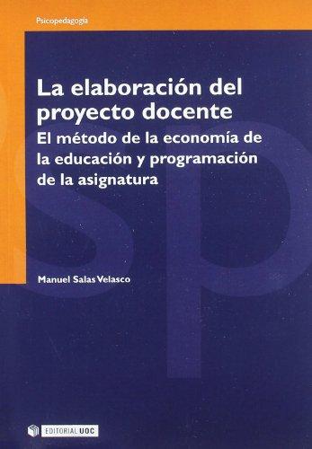 La elaboración del proyecto docente (Manuales) por Manuel Salas Velasco
