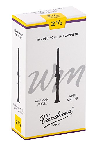 10 ance Vandoren White master 2.5 clarinetto in Sib