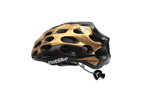 Catlike Mixino Casco de Ciclismo, Unisex Adulto, Oro/Negro Mate, MD (55-57cm)