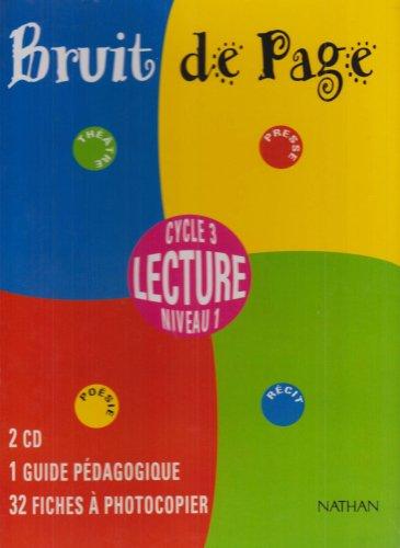 Bruit de page, CE2. Boîtier du maître, 2 CD + guide pédagogique + 32 fiches