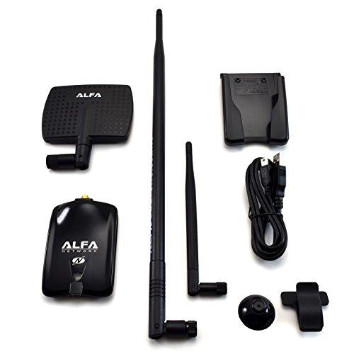 Alfa AWUS036NHA USB Adapter Atheros AR9271L 7dBi Antenna + 9dBi Antenna + U-Mount