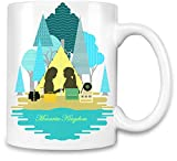 World Designz Moonrise Königreich Filmplakat - Moonrise Kingdom Movie Poster Unique Coffee Mug | 11Oz Ceramic Cup| The Best Way to Surprise Everyone On Your Special Day| Custom Mugs by