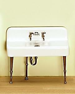 puppenhaus porzellan sp le k che waschbecken chrom viktorianisch nicht montiert. Black Bedroom Furniture Sets. Home Design Ideas