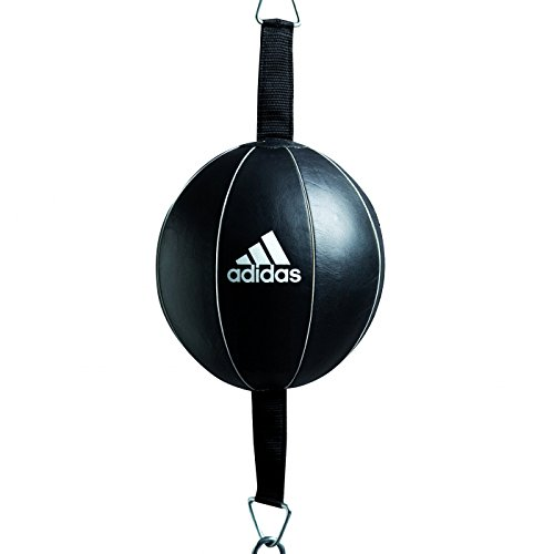 Adidas Precision Double End Poire de vitesse Leather Punching Ball, noir/blanc, One Size