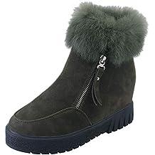 ZODOF Zapatillas de Mujer, Modelos de Mujer, además de Terciopelo cálido, Impermeable,