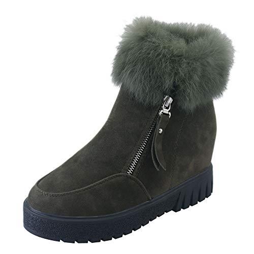 S&H-NEEDRA Damen Side Zipper Stiefel Schneeschuhe Plus Velvet Erhöhung Stiefel